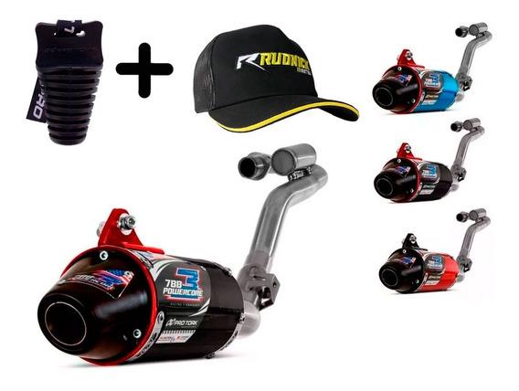Escapamento Completo Motocross Crf230 Pro Tork Power Core 3