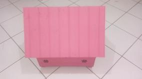 Casinha De Madeira Para Cachorro Pequena Rosa