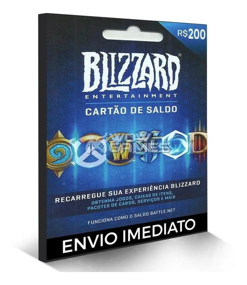 Cartão Blizzard R$ 200 Reais Battle.net Wow World Warcraft