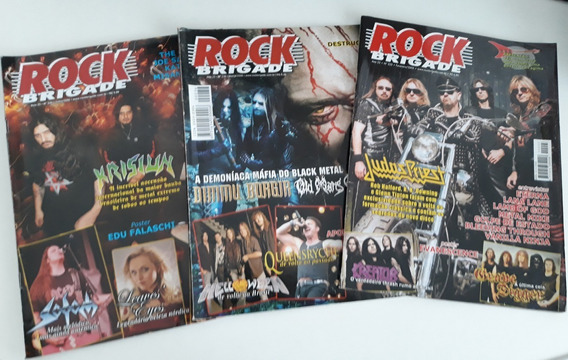 Kit 3 Revistas Rock Brigade - N°s 223, 236 E 240.