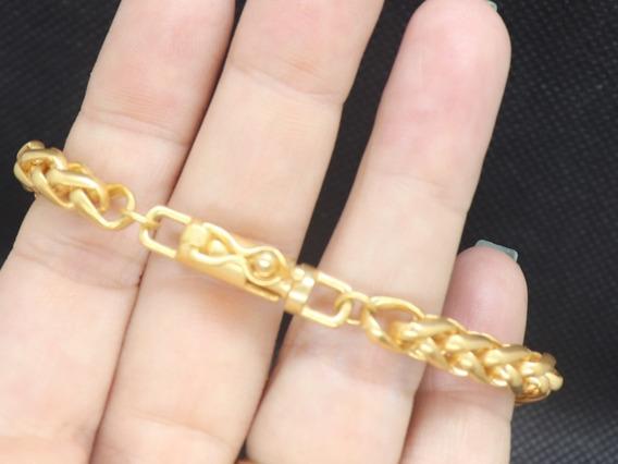 Corrente + Pulseira Banhadas A Ouro Palmier 60cm Imperdível