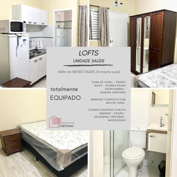 Lofts: Quarto+wc+cozinha - Metro Saúde- S.judas- Conceição