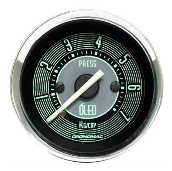 Manômetro Pressão De Óleo Cronomac 52mm Vw Volks Line 7kg