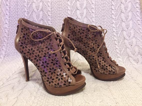 Sapato De Couro Caramelo