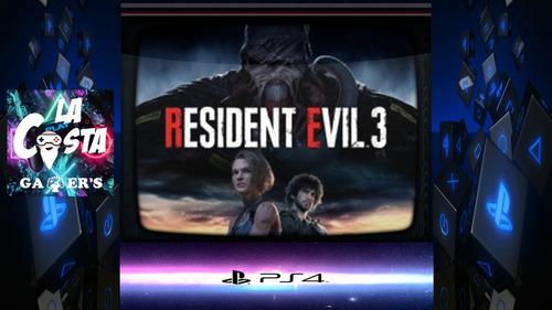 Resident Evil 3 Remake D2 Ps4