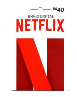 Cartão Presente Netflix Gift Card R$ 40 Reais Envio Digital