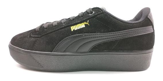 Tênis Puma Vikky Platform Bdp Preto/dourado Black/black/gold