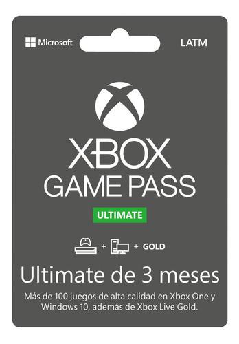 Xbox Game Pass Ultimate 3 Meses Código Original