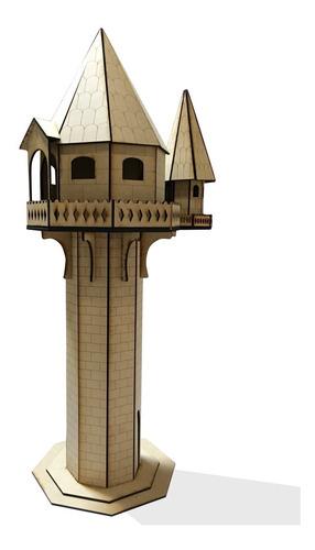 Casita De Muñecas Torre Rapunzel Dia Del Niño 68cm