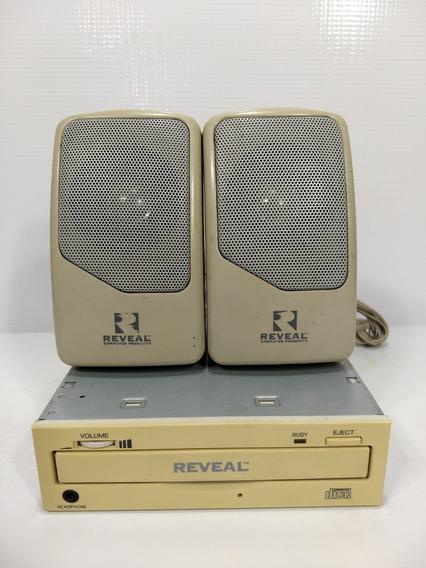 Kit Drive Cd-rom + Caixas Reveal 1994 Retro Pc Antigo 386