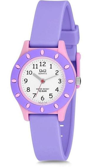 Relógio Infantil Feminino Rosa E Lilás Prova D