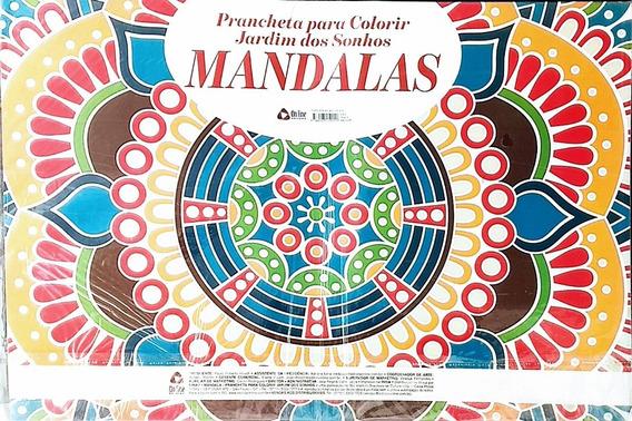 Revista Prancheta Para Colorir -jardim Dos Sonhos Mandalas
