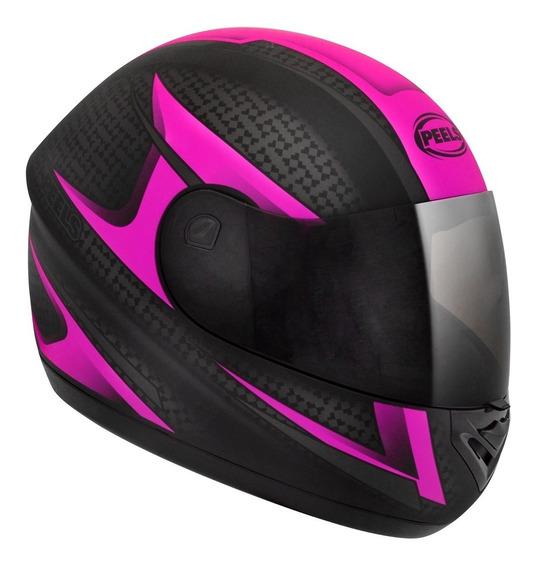 Capacete Moto Peels Spike Storm Preto Rosa Fosco Com Nf