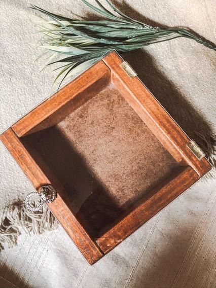 Box Caixa Em Madeira Com Tampa Em Acrílico Fotógrafos 15x16
