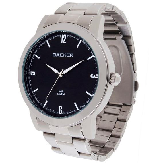 Relógio Feminino Analógico Backer 3546123m Pr - Prata Fundo