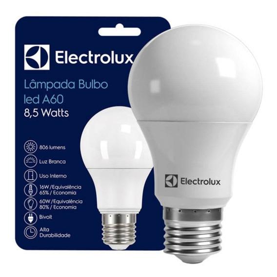 Lampada Led Bulbo 8,5w Branca Electrolux - Kit C/20 Lampadas