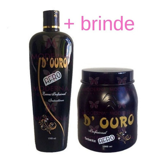 Produtos Para Cabelos Crespos D Ouro + Brinde