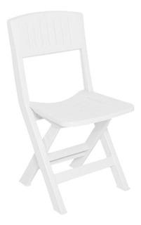 Silla Rimax 43 Cm X 49.2 Cm X 79.5 Cm Plegable Blanca