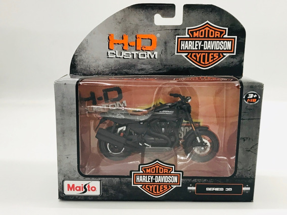 Moto Harley Davidson Escala 1:18 Maisto Coleccion 31360 Edu