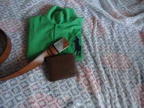 Kit Camisa+cinto+carteira