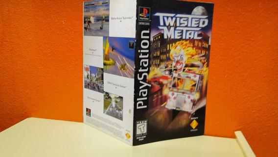 Manual E Estojo Originais- Twisted Metal - Playstation 1