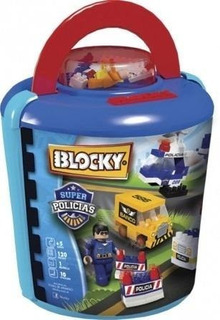 Blocky Super Policía Balde X 120 Pzas Blocky
