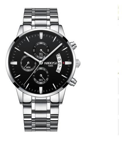 Relógio Nibosi 100% Funcional Resistente Ponteiro Grande