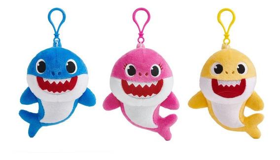 Peluche Musical Original Baby Shark - Con Gancho - 15 Cm