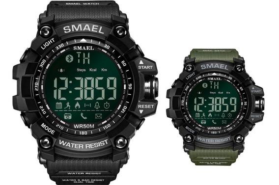 Relógio Smael 1617 Bluetooth Pedometro Prova D´água