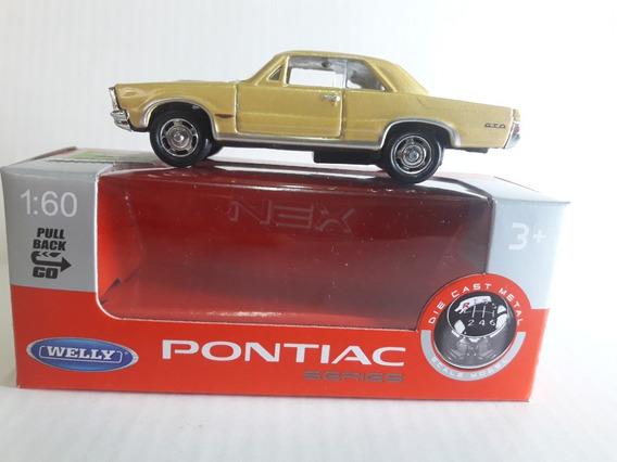 Welly Pontiac 1965 1/60 Ruedas De Goma Pull Back