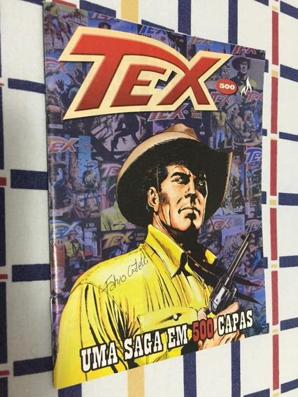Tex: Encarte Das 500 Primeiras Capas *com Autográfo*