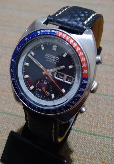 Relógio Seiko Cronógrafo Automático Pogue Pepsi 6139/6002