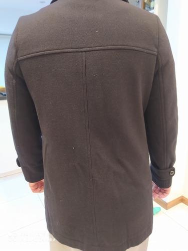 M/&S LTD EDITION acolchado mezcla de lana estilo motero cuello de piel abrigo ~ Var Tallas Negro