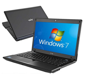 Notebook Cce Win X345 Intel Atom 2gb 320gb Windows 14