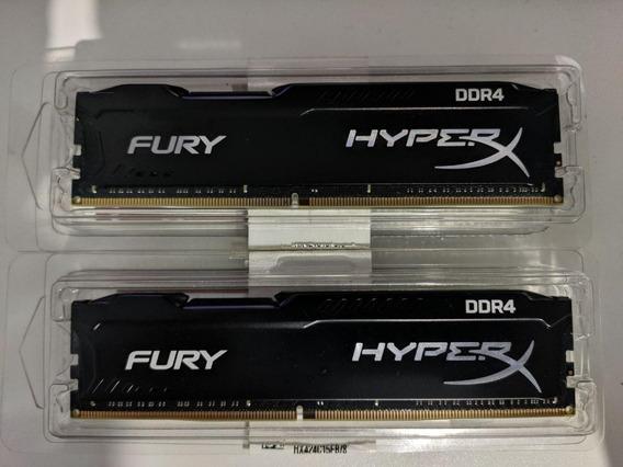 Memória Hyperx Fury 16gb Kit(2x8gb) 2400mhz Cl15 Dimm Black