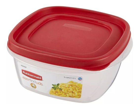 Contenedor Rubbermaid Easy Find Lids 1,2 Lts Original Usa