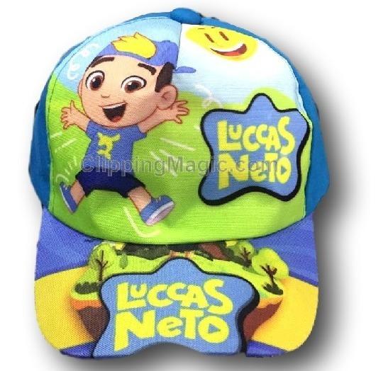 Kit 10 Boné Infantil Personagens Luccas Lucas Neto