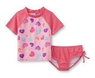 Biquini Baby Com Camiseta Praia/piscina Com Proteção Uv
