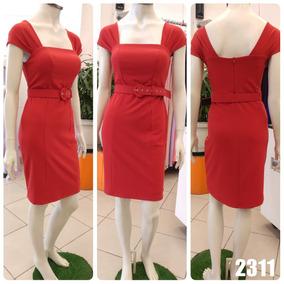 50580ef9e Vestido Tubinho Preto 48 Cinto - Vestidos Femeninos Vermelho com o ...