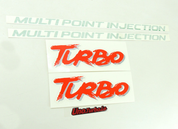Uno Turbo Kit Adesivo Mpi Lateral Turbo Multipoint Injection