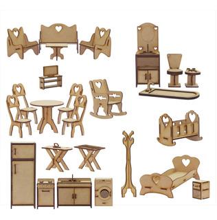 25 Muebles Para Casita De Muñecas Barbie Fibrofacil Navidad!