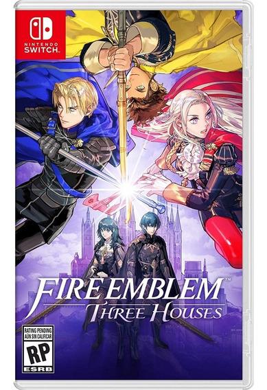 Fire Emblem Three Houses Switch Mídia Física Novo Lacrado