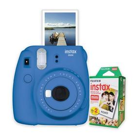 Câmera Instantânea Fuji Instax Mini 9 Azul Cobalto +20filmes