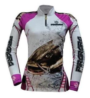 Camiseta Feminina Pesca Proteção Uv King Kff401 Camisa Blusa