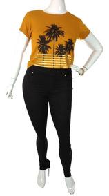 Legging Jeans Calça Plus Size Cintura Alta Roupas Femininas