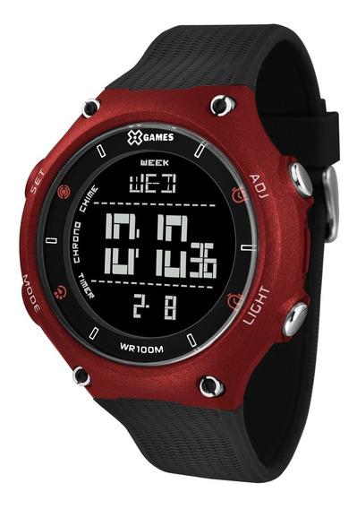 Relógio X-games Masculino Digital Xmppd454 Vermelho Negativo