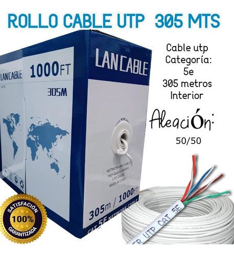 Imagen 1 de 5 de Cable Rollo Utp Cat5e Caja 305m, Red Voz Datos Cctv Interior
