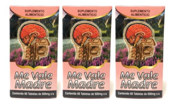 Me Vale Madre Nutrimed 60 Tab 500 Mg (3 Piezas) Envio Full