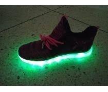 Zapatos Deportivos Dama Con Luces Led Talla 40 Negros Perfec