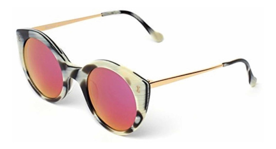 Óculos Illesteva Palm Beach Designer, Mirrored Sunglasses